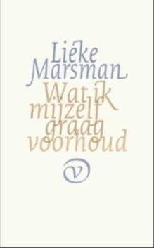 Omslag Wat ik mijzelf graag voorhoud - Lieke Marsman