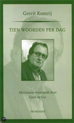 Omslag Tien woorden per dag - Gerrit Komrij