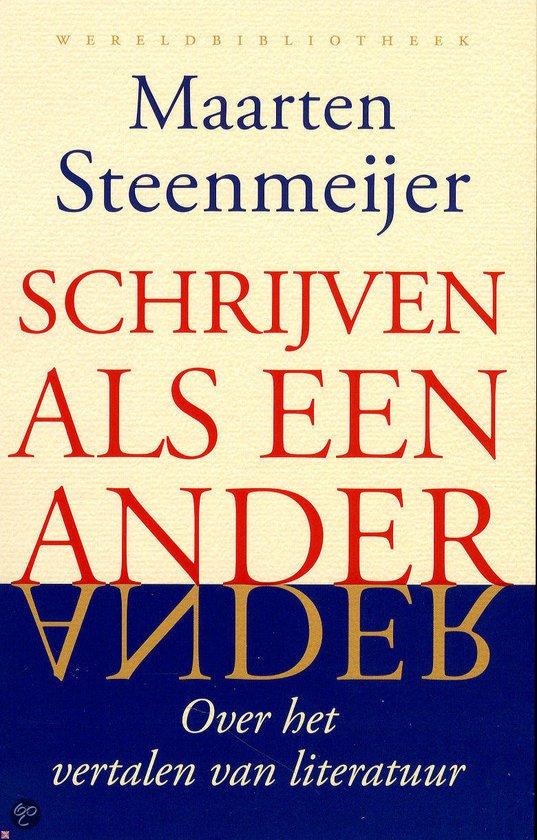 Omslag Schrijven als een ander  -  Maarten Steenmeijer