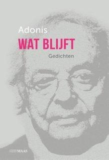 Omslag Wat blijft - Adonis